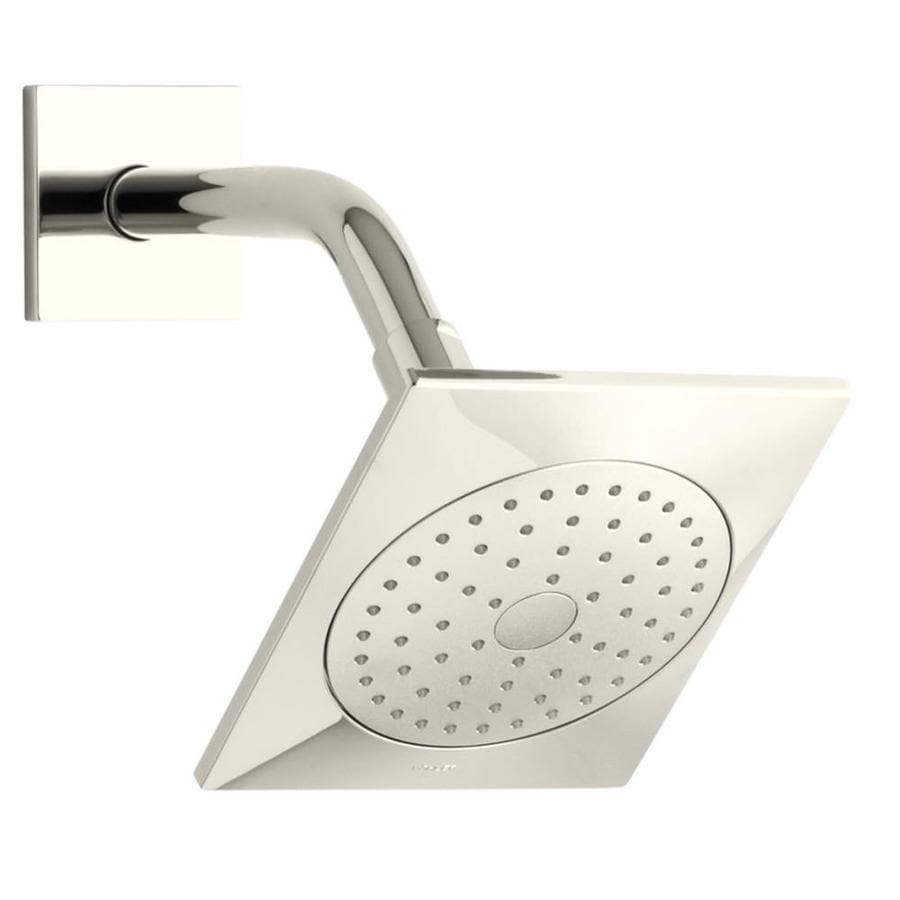 KOHLER Loure 6.3125-in 2.5-GPM (9.5-LPM) Vibrant Polished Nickel 1-Spray Showerhead