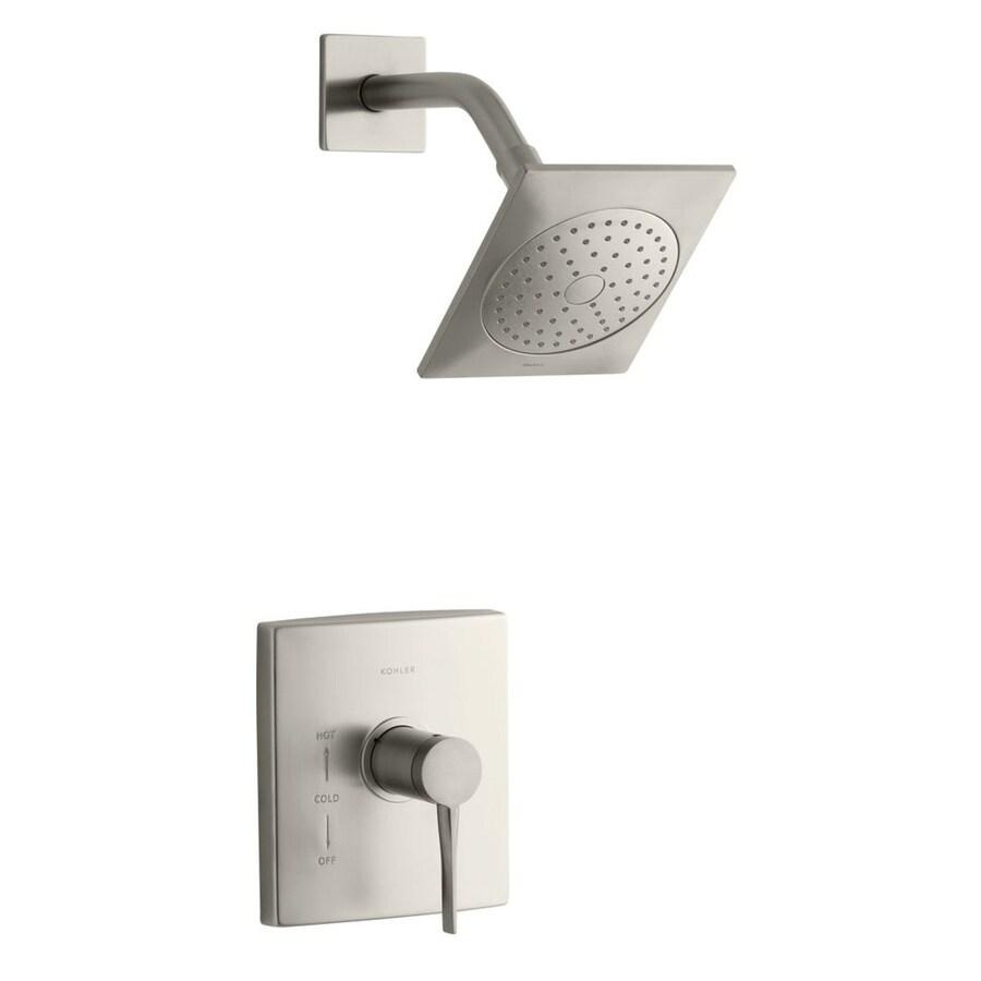KOHLER Stance Vibrant Brushed Nickel 1-Handle Shower Faucet Trim Kit with Single Function Showerhead