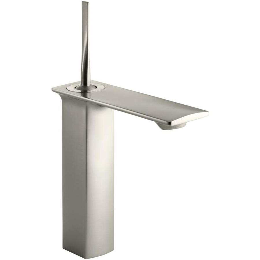 KOHLER Stance Vibrant Brushed Nickel 1-Handle Single Hole Bathroom Faucet