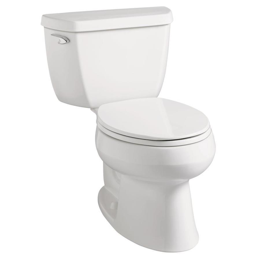 KOHLER Wellworth White 1.28-GPF (4.85-LPF) 12 Rough-In WaterSense Elongated 2-Piece Standard Height Toilet