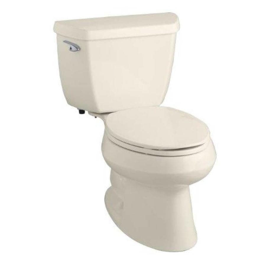 KOHLER Wellworth Almond 1.28-GPF (4.85-LPF) 12 Rough-In WaterSense Elongated 2-Piece Standard Height Toilet