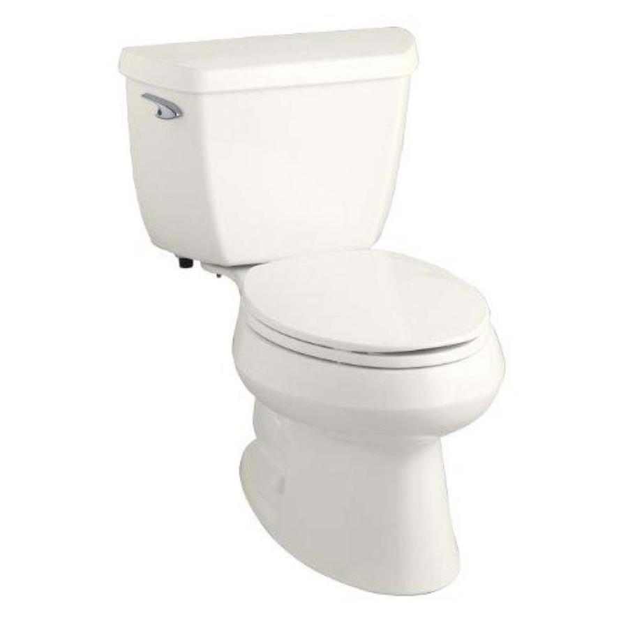 KOHLER Wellworth Biscuit 1.28-GPF (4.85-LPF) 12 Rough-In WaterSense Elongated 2-Piece Standard Height Toilet