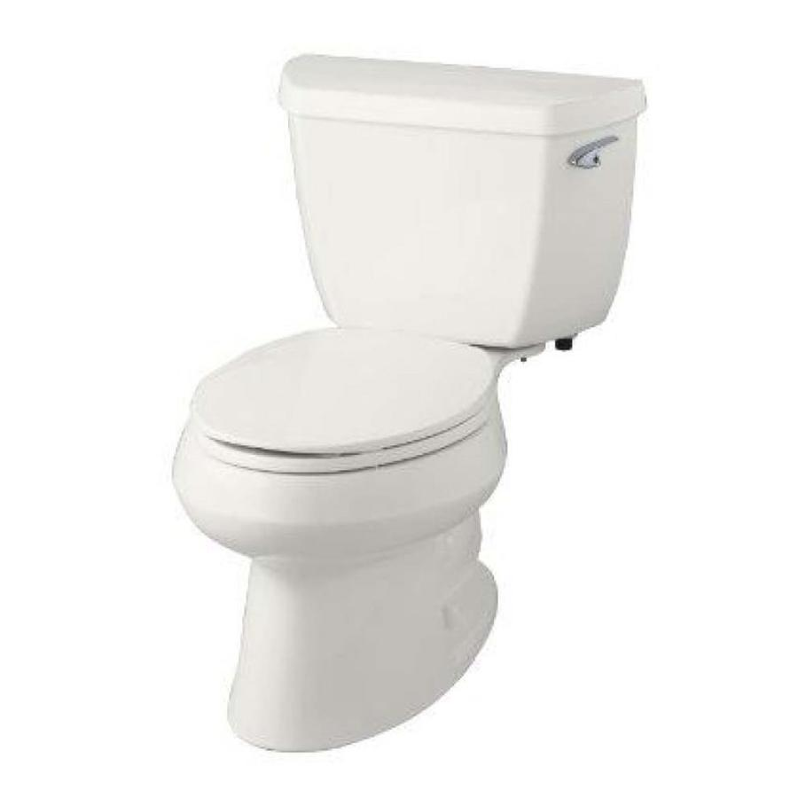KOHLER Wellworth White 1.28-GPF (4.85-LPF) 12 Rough-In WaterSense Elongated 2-Piece Standard Height Toilet