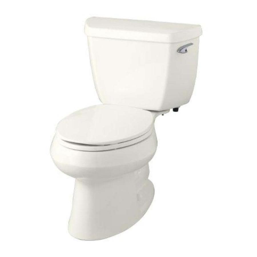 KOHLER Wellworth Biscuit 1.28-GPF (4.85-LPF) 12 Rough-In WaterSense Elongated 2-Piece Standard Height Toilet