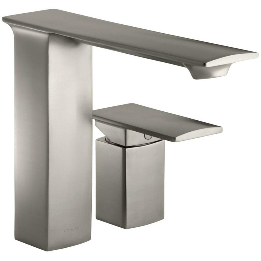 KOHLER Stance Vibrant Brushed Nickel 1-Handle 2-Hole Bathroom Faucet
