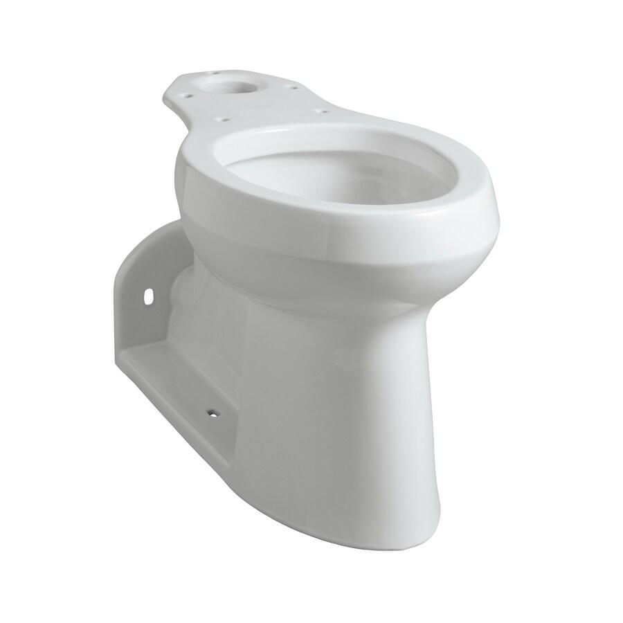 KOHLER Barrington Chair Height White 12-in Rough-In Pressure Assist Elongated Toilet Bowl