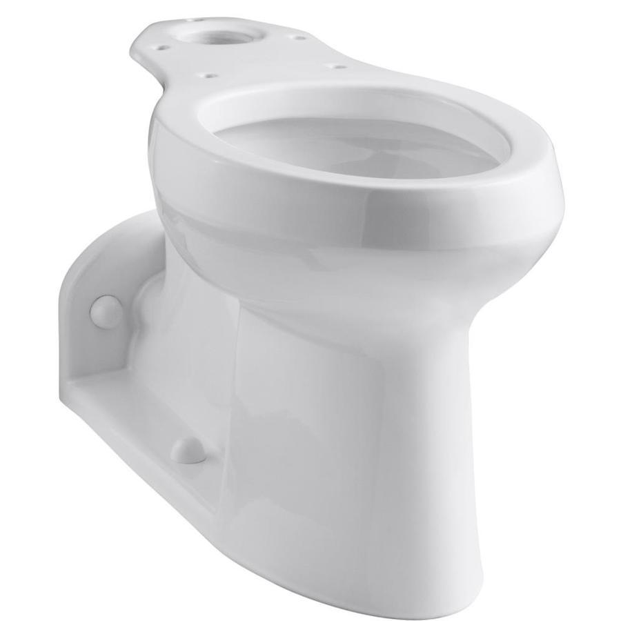 KOHLER Barrington Chair Height White 4-1/2-in Rough-In Pressure Assist Elongated Toilet Bowl