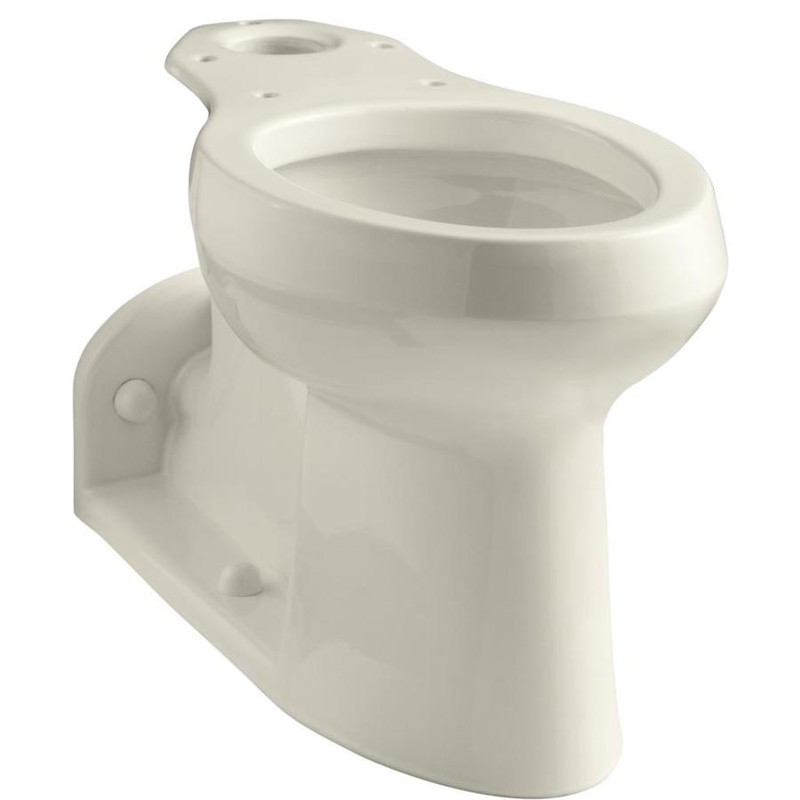 KOHLER Barrington Chair Height Almond 4-1/2-in Rough-In Pressure Assist Elongated Toilet Bowl