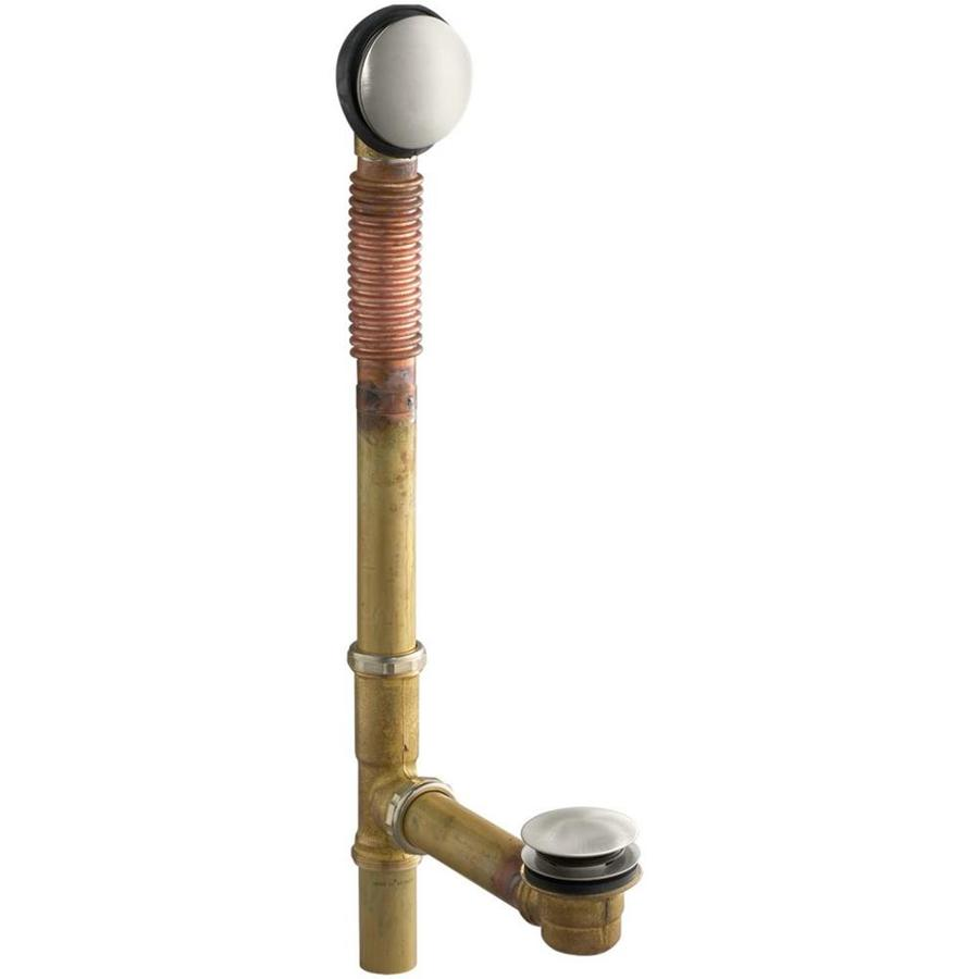 KOHLER 1-1/2-in Vibrant Brushed Nickel Foot Lock with Brass Pipe