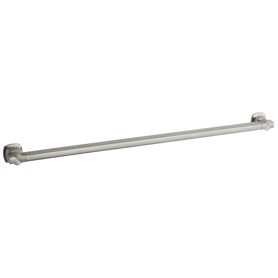 KOHLER 38.5625-in Vibrant Brushed Nickel Wall Mount Grab Bar