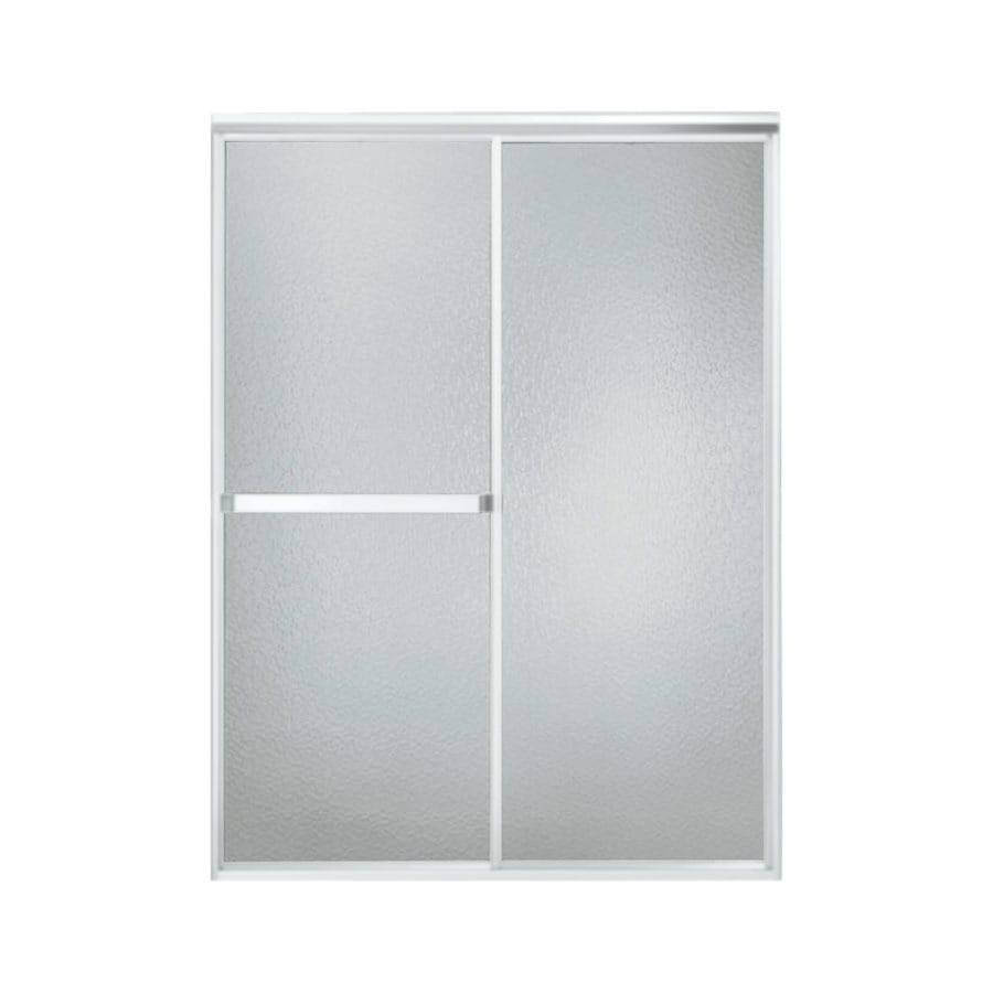 Sterling Standard 47-in to 52-in W x 65-in H Matte Chrome Sliding Shower Door