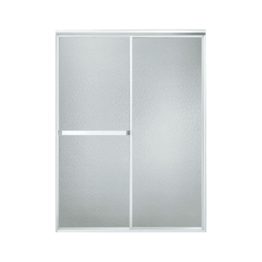 Sterling Standard 42-in to 48-in W x 70-in H Matte Chrome Sliding Shower Door