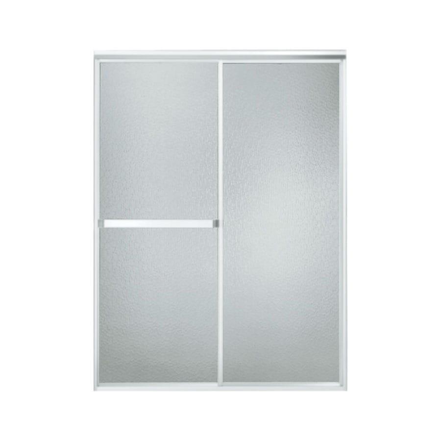 Sterling Standard 54-in to 59-in W x 70-in H Matte Chrome Sliding Shower Door