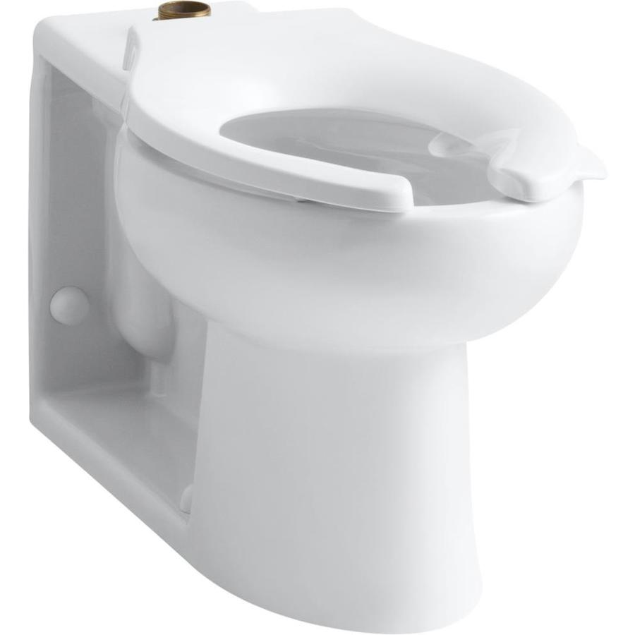 KOHLER Anglesey Standard Height White 4.5-in Rough-In Pressure Assist Elongated Toilet Bowl