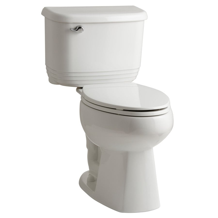 Sterling Riverton White 1.28-GPF 12 Rough-In WaterSense Elongated Dual-Flush 2-Piece Chair Height Toilet