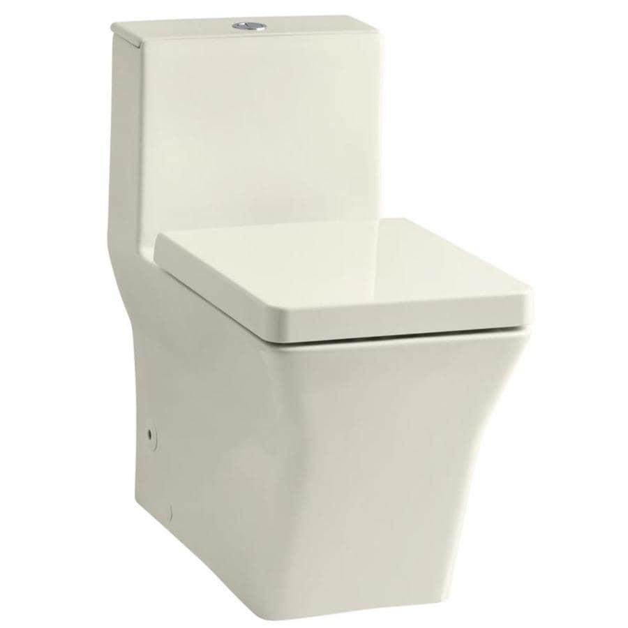 KOHLER Reve Biscuit 1.6; 0.8-GPF (6.06; 3.03-LPF) 12 Rough-In WaterSense Elongated 1-Piece Custom Height Toilet