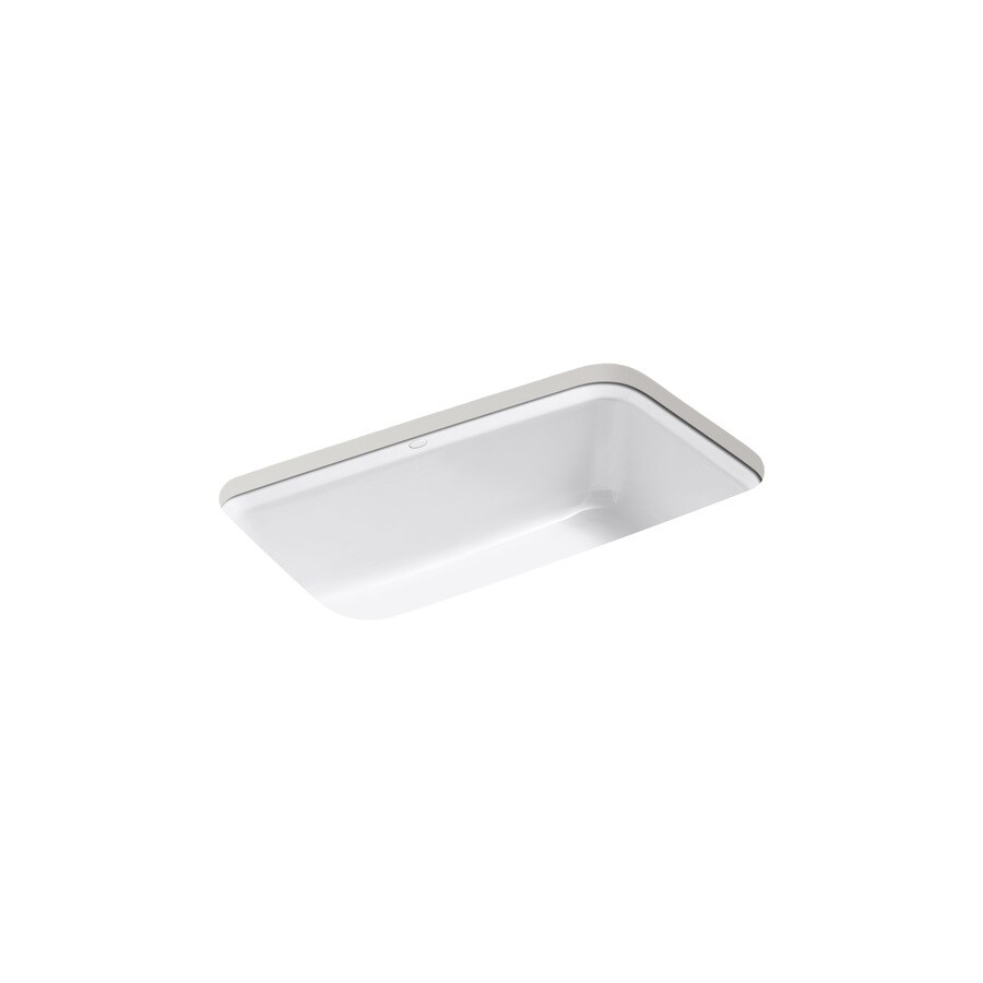 Kohler Undermount Kitchen Sinks Lowes: Shop KOHLER Bakersfield 22-in X 31-in White Single-Basin