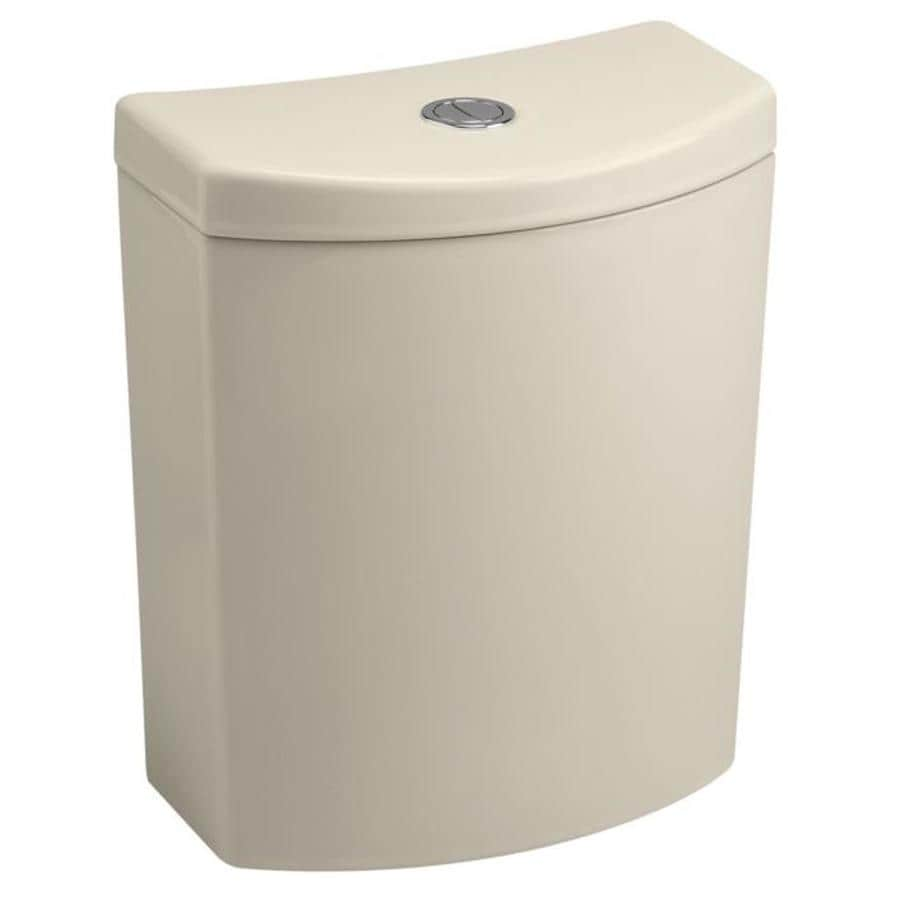KOHLER Persuade Curv Almond 1.6-GPF (6.06-LPF) 12 Rough-In Dual-Flush High-Efficiency Toilet Tank