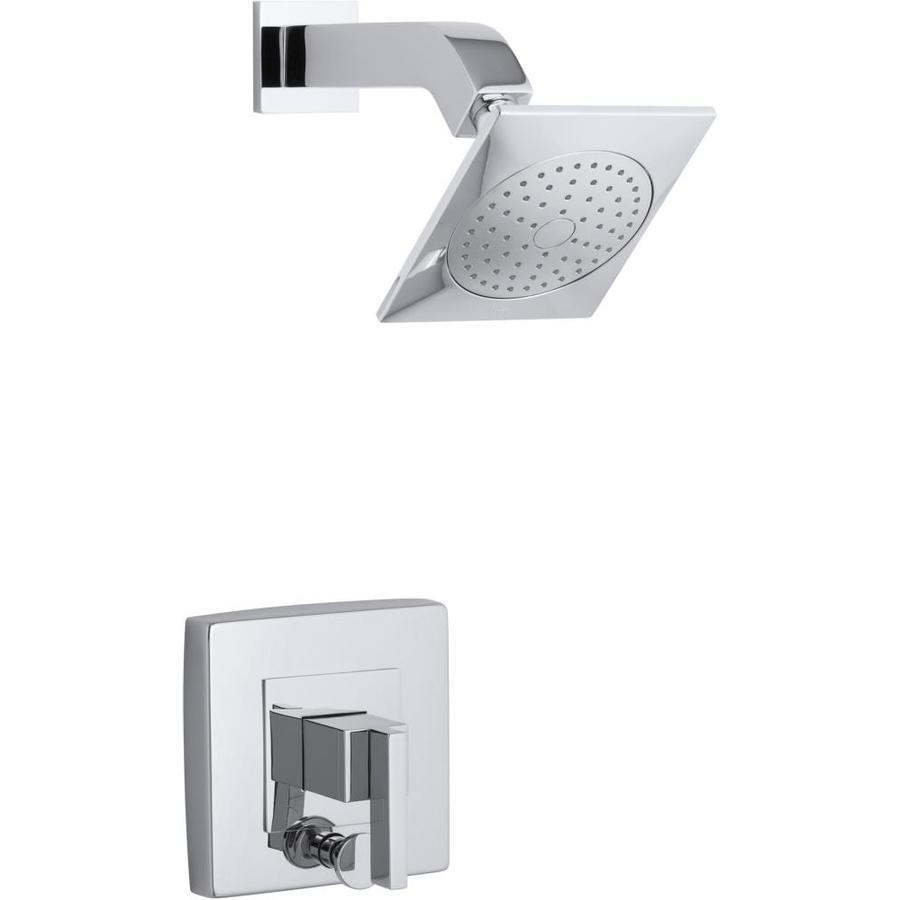 KOHLER Loure Polished Chrome 1-Handle Shower Faucet Trim Kit with Single Function Showerhead