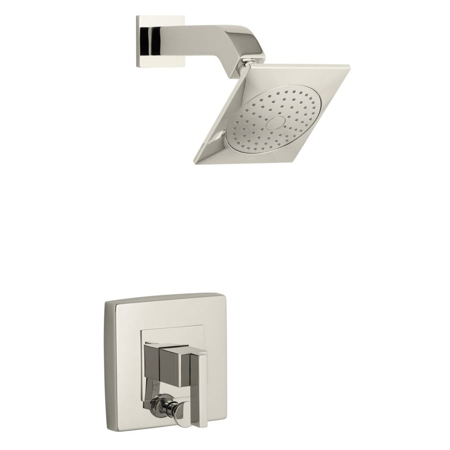 KOHLER Loure Vibrant Polished Nickel 1-Handle Shower Faucet Trim Kit with Single Function Showerhead
