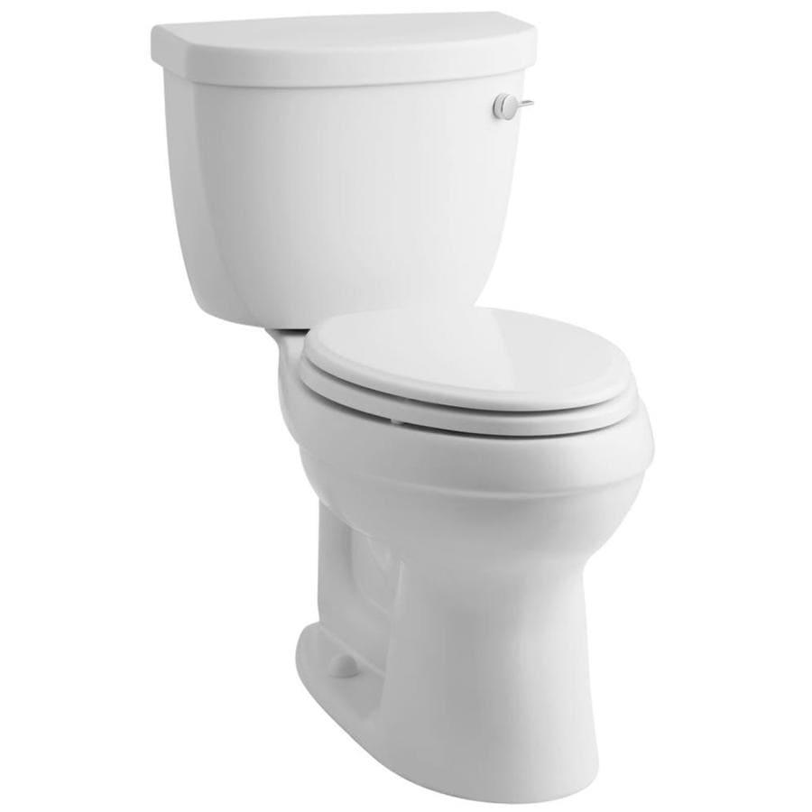 KOHLER Cimarron White 1.28-GPF (4.85-LPF) 12 Rough-In WaterSense Elongated 2-Piece Custom Height Toilet