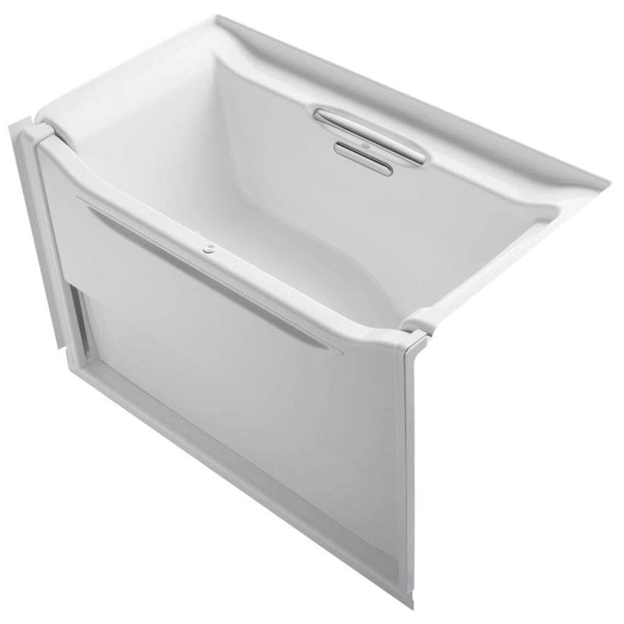 KOHLER Elevance White Acrylic Rectangular Alcove Bathtub with Right-Hand Drain (Common: 34-in x 60-in; Actual: 39.25-in x 33.5-in x 60.25-in)
