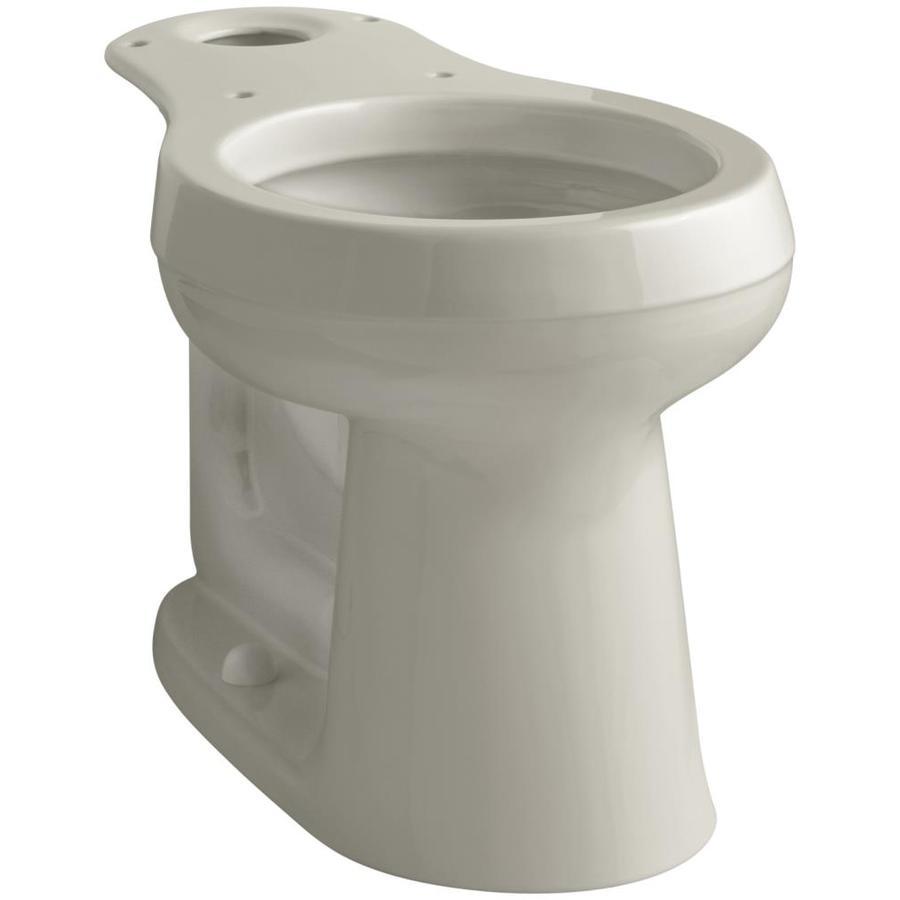 KOHLER Cimarron Chair Height Sandbar 12-in Rough-In Round Toilet Bowl