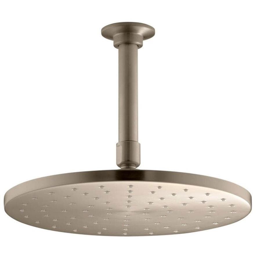 KOHLER Contemporary 10-in 2.5-GPM (9.5-LPM) Vibrant Brushed Bronze 1-Spray Rain Showerhead