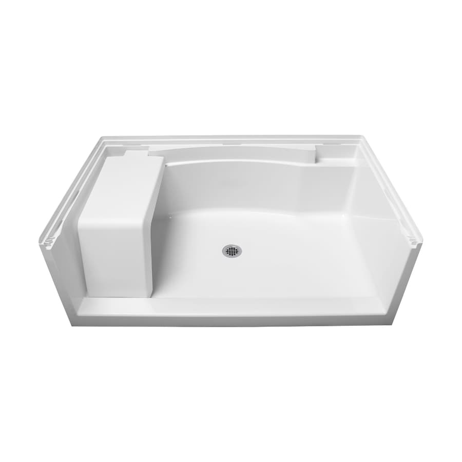 Sterling Accord White Vikrell Shower Base (Common: 60-in W x 36-in L; Actual: 60-in W x 36-in L)