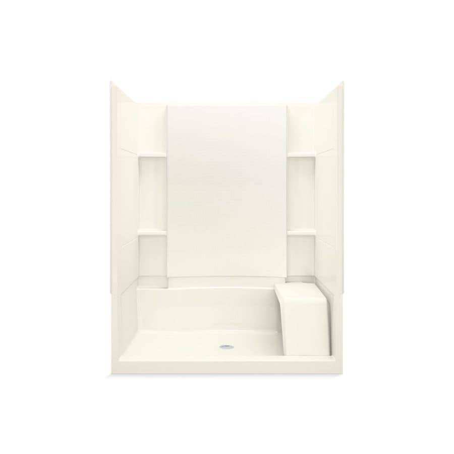 Sterling Accord Biscuit Vikrell Wall Vikrell Floor 4-Piece Alcove Shower Kit (Common: 60-in x 36-in; Actual: 76-in X