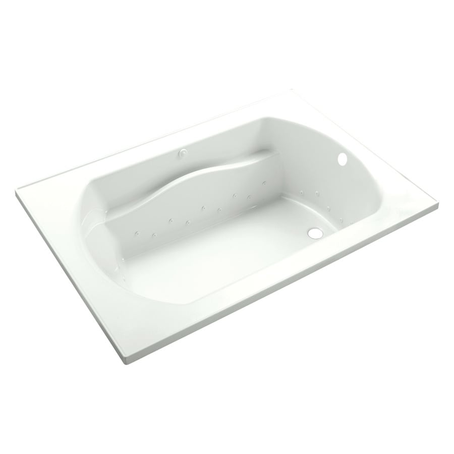 Sterling Lawson 60-in L x 25.75-in W x 20.3125-in H White Vikrell Rectangular Drop-in Air Bath