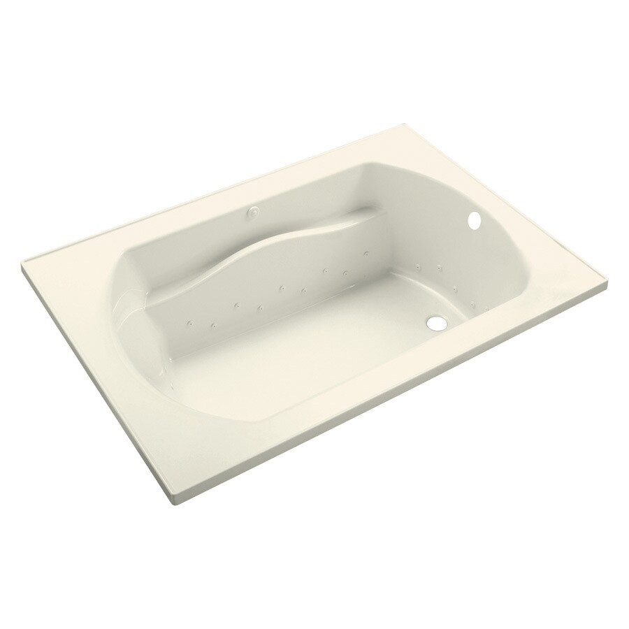 Sterling Lawson 60-in L x 25.75-in W x 20.3125-in H Biscuit Vikrell Rectangular Drop-in Air Bath