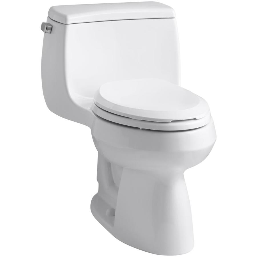 KOHLER Gabrielle White 1.28-GPF (4.85-LPF) 12 Rough-In WaterSense Elongated 1-Piece Chair Height Toilet