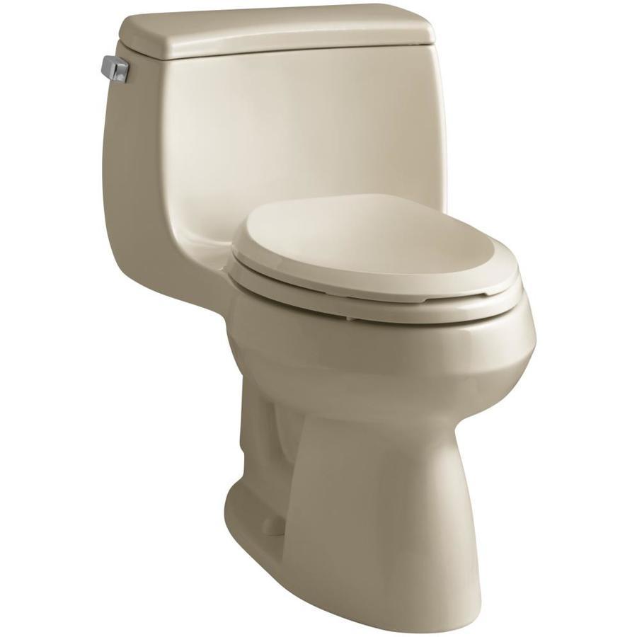 KOHLER Gabrielle Mexican Sand 1.28-GPF (4.85-LPF) 12 Rough-In WaterSense Elongated 1-Piece Chair Height Toilet