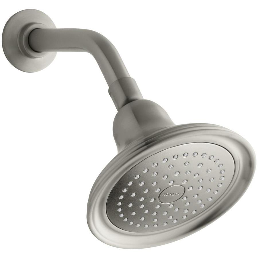 KOHLER Devonshire 5.9375-in 2.5-GPM (9.5-LPM) Vibrant Brushed Nickel 1-Spray Showerhead
