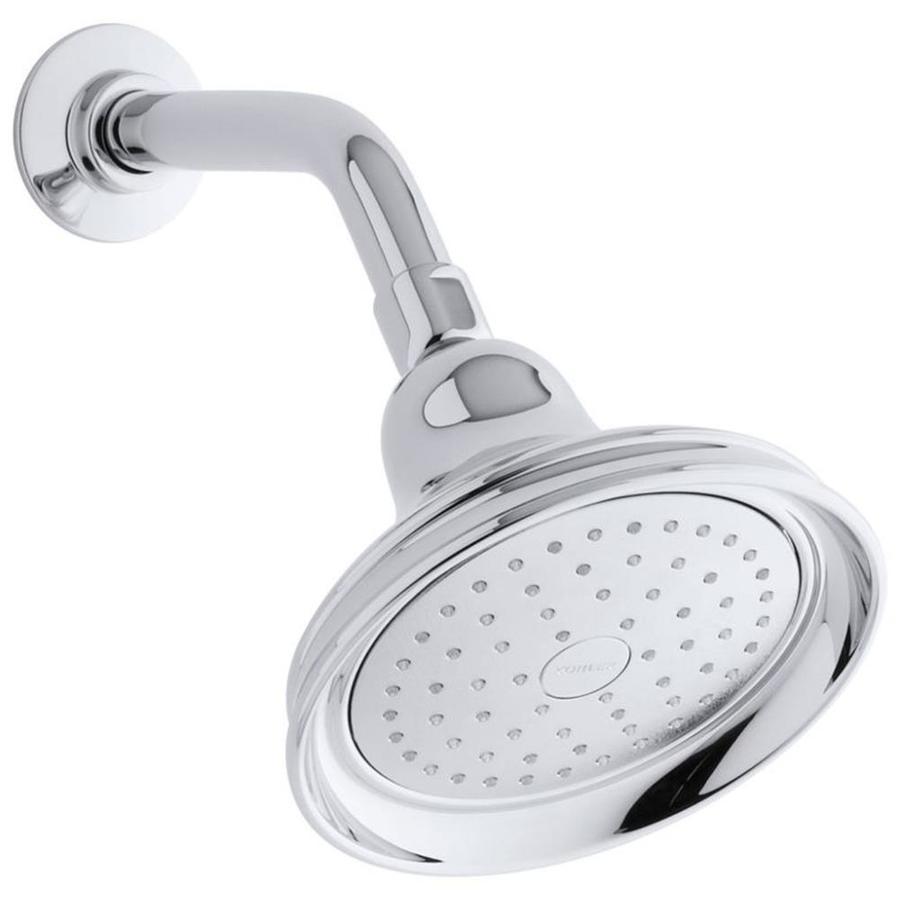 KOHLER Bancroft 5.9375-in 2.5-GPM (9.5-LPM) Polished Chrome 1-Spray Showerhead
