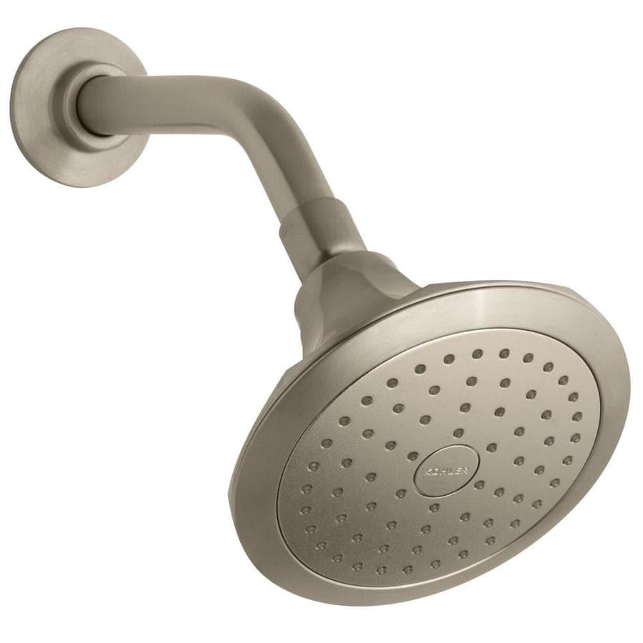 KOHLER Memoirs 5.5-in 2.5-GPM (9.5-LPM) Vibrant Brushed Bronze 1-Spray Showerhead