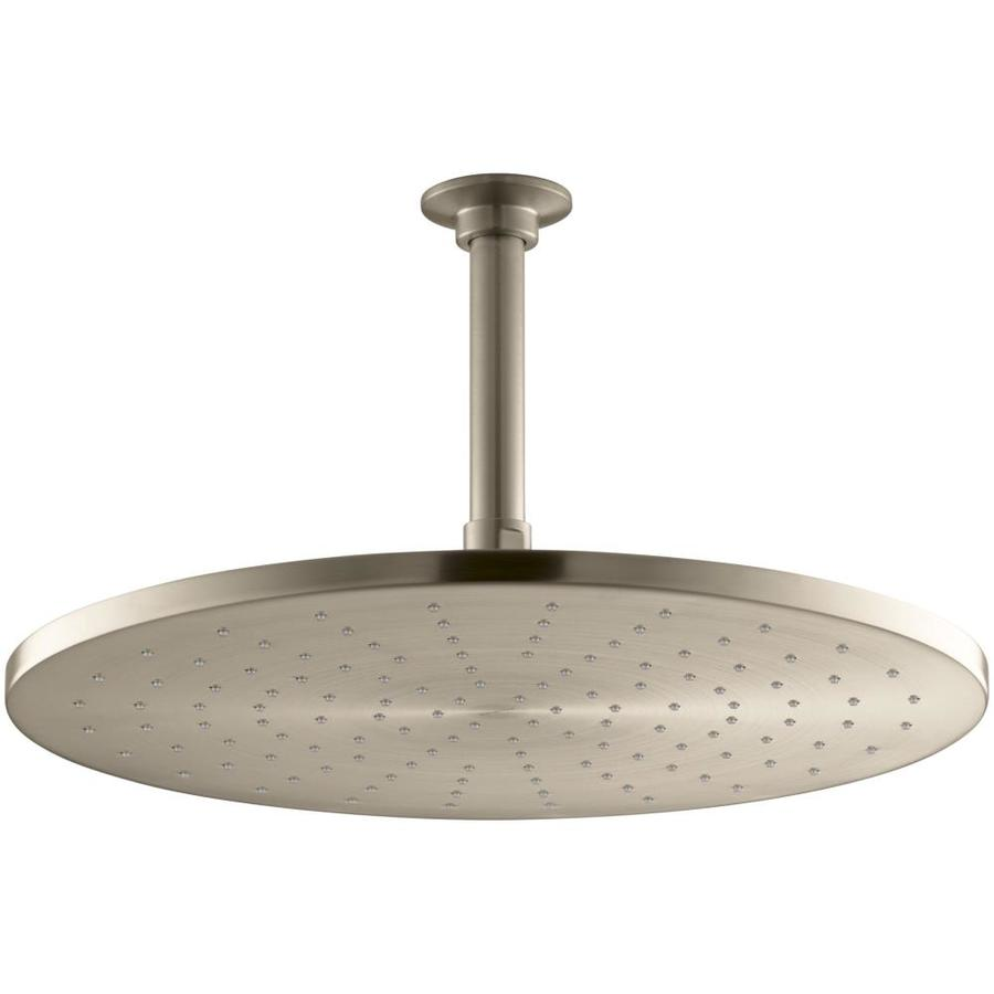 KOHLER Contemporary 14-in 2.5-GPM (9.5-LPM) Vibrant Brushed Bronze 1-Spray Rain Showerhead