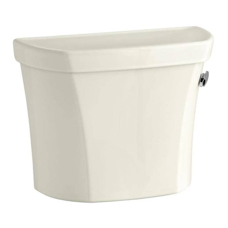 KOHLER Wellworth Biscuit 1.28-GPF (4.85-LPF) 12-in Rough-in Single-Flush High-Efficiency Toilet Tank