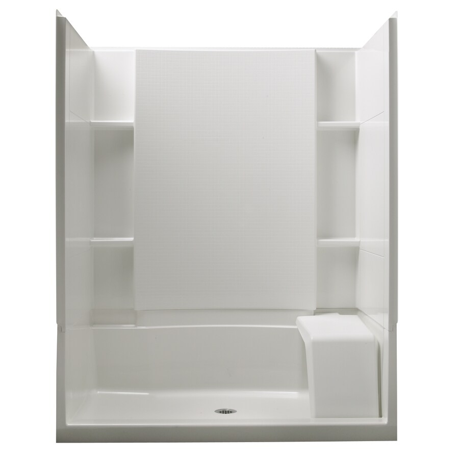 Accord White Vikrell Shower Wall Surround Side and Back Walls (Common: 36-in x 60-in; Actual: 55.125-in x 36-in x 60-in) Product Photo
