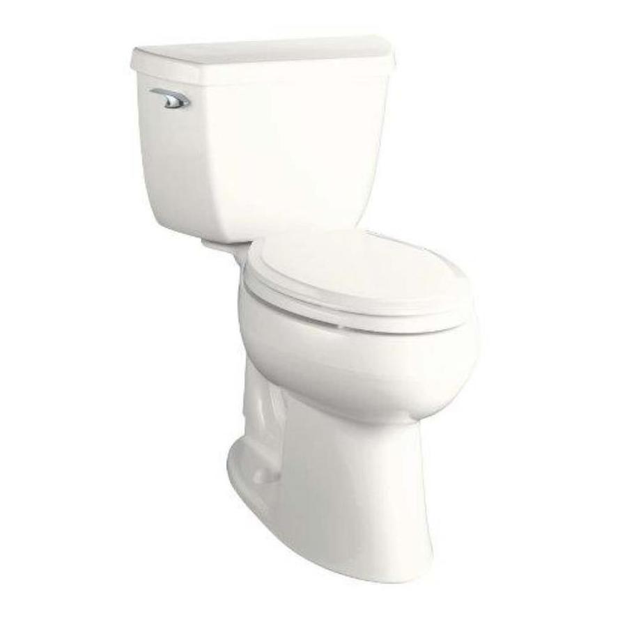 KOHLER Highline Almond 1.28-GPF (4.85-LPF) 10 Rough-In WaterSense Elongated 2-Piece Chair Height Toilet