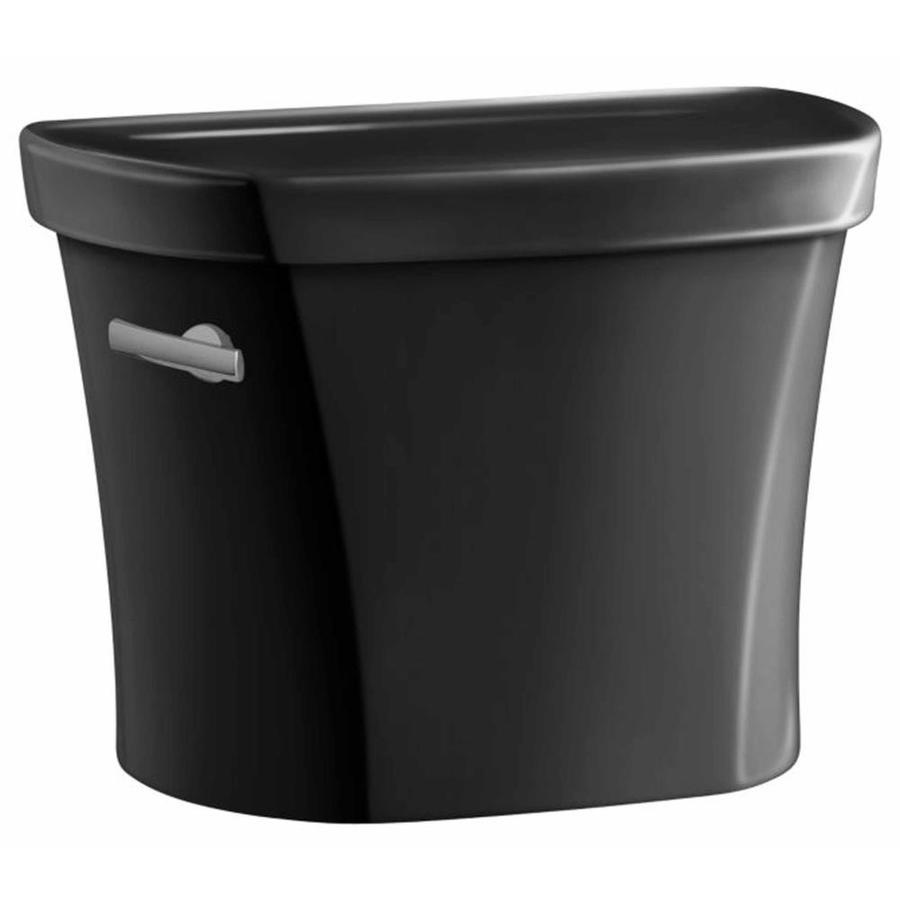 KOHLER Wellworth Black Black 1.28-GPF (4.85-LPF) 14 Rough-In Single-Flush High-Efficiency Toilet Tank