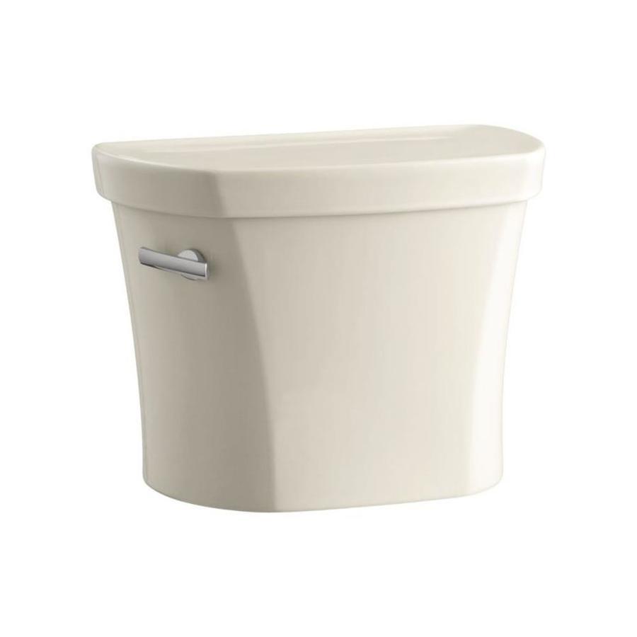 KOHLER Wellworth Almond 1.28-GPF (4.85-LPF) 12-in Rough-in Single-Flush High-Efficiency Toilet Tank