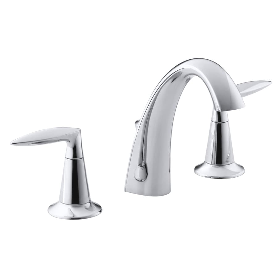 Shop KOHLER Alteo Polished Chrome 2 Handle Widespread WaterSense Bathroom Fau