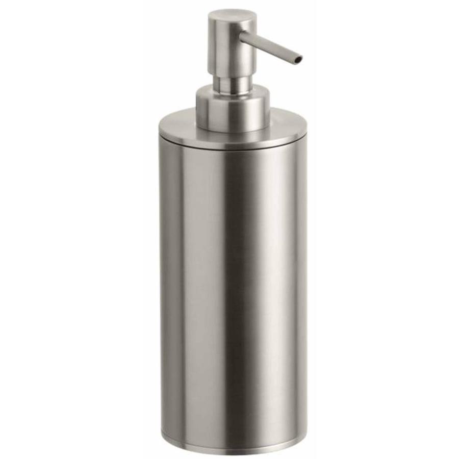 KOHLER Purist Vibrant Brushed Nickel Soap and Lotion Dispenser