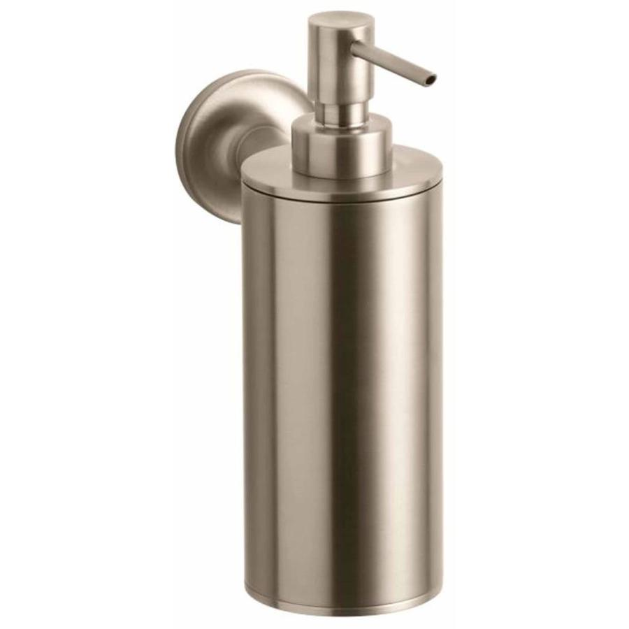 KOHLER Purist Vibrant Brushed Bronze Soap and Lotion Dispenser