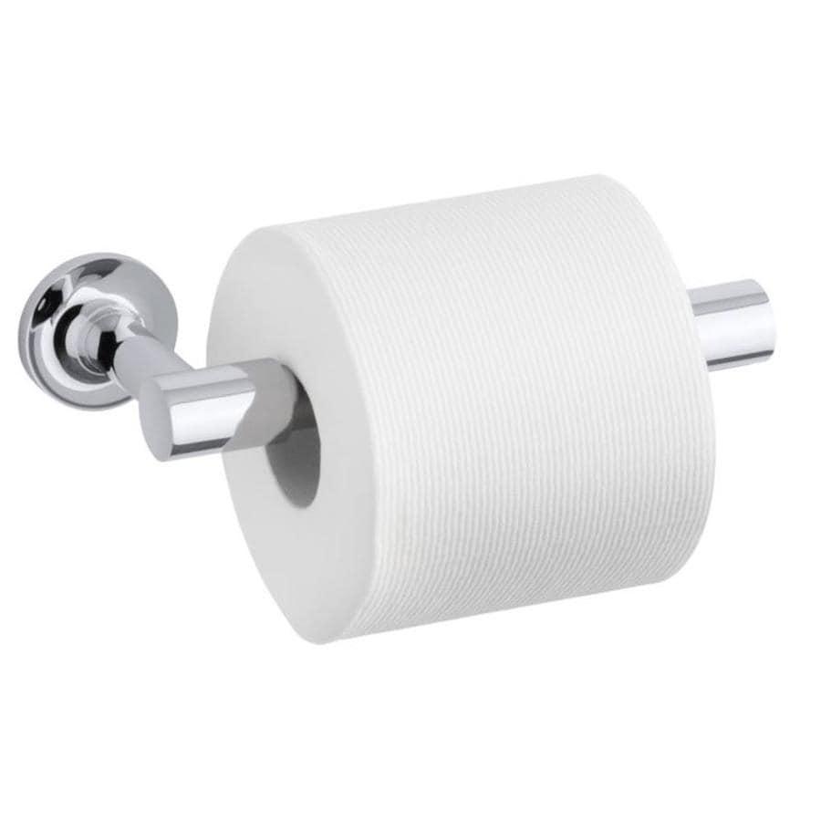KOHLER Purist Polished Chrome Surface Mount Pivot Toilet Paper Holder