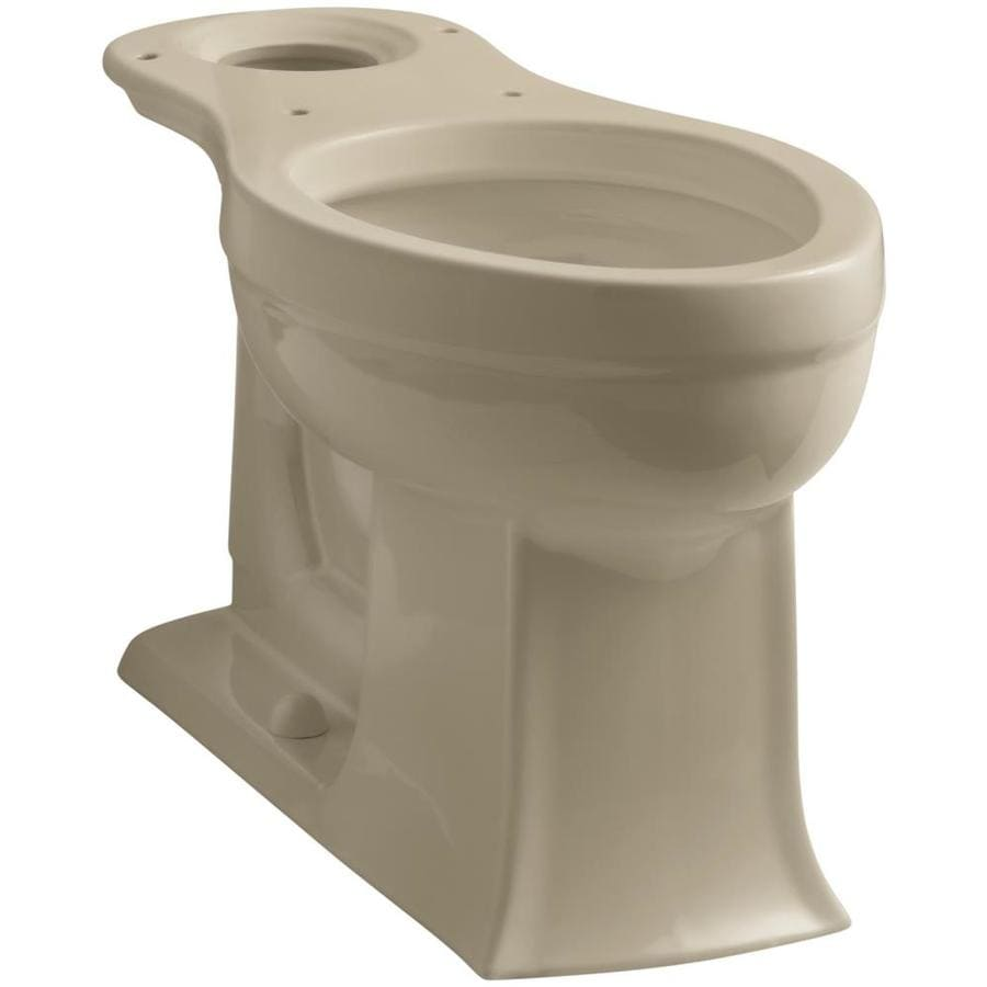 KOHLER Archer Chair Height Mexican Sand 12-in Rough-In Elongated Toilet Bowl