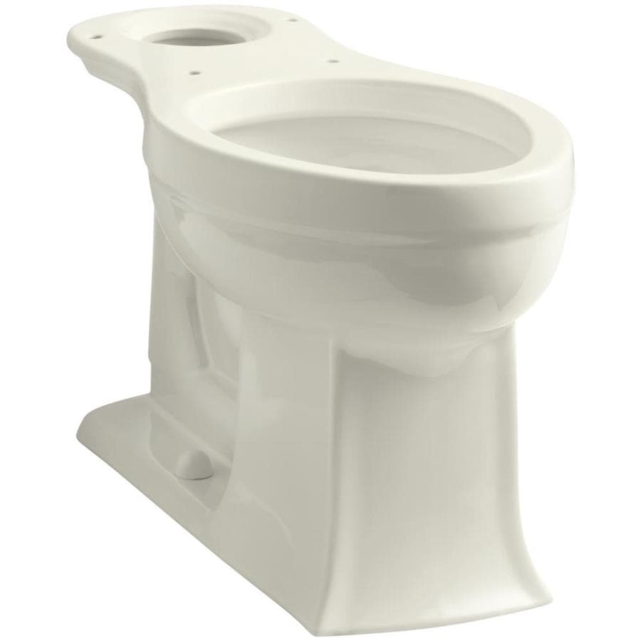 KOHLER Archer Chair Height Biscuit 12-in Rough-In Elongated Toilet Bowl