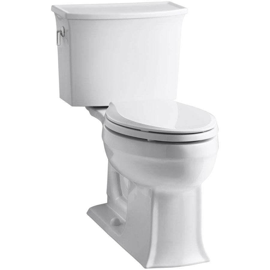KOHLER Archer White 1.28-GPF (4.85-LPF) 12 Rough-In WaterSense Elongated 2-Piece Chair Height Toilet